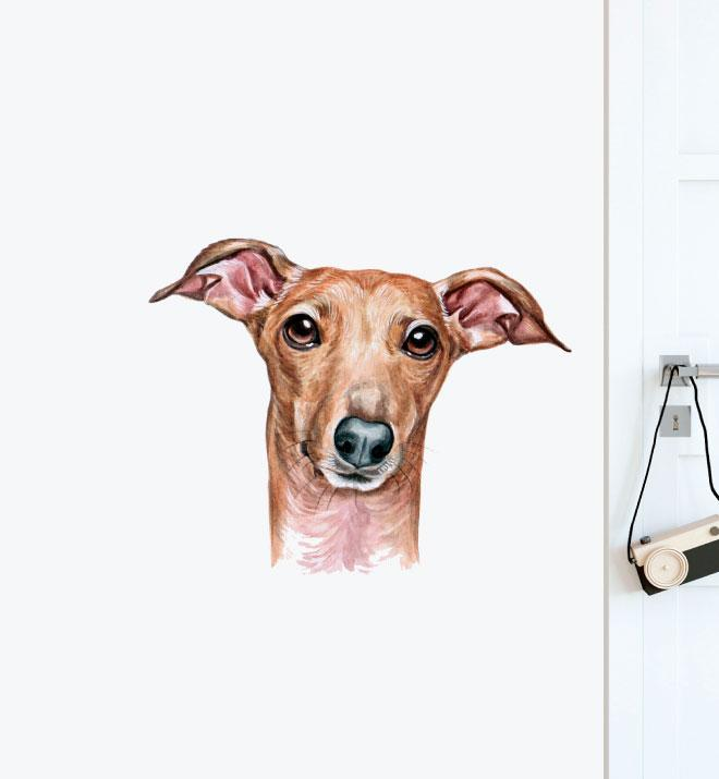 Italian Greyhound Dog Wall Sticker