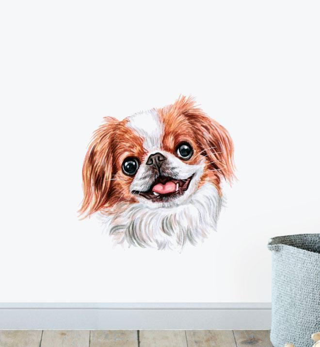 Japanese Chin Dog Wall Sticker