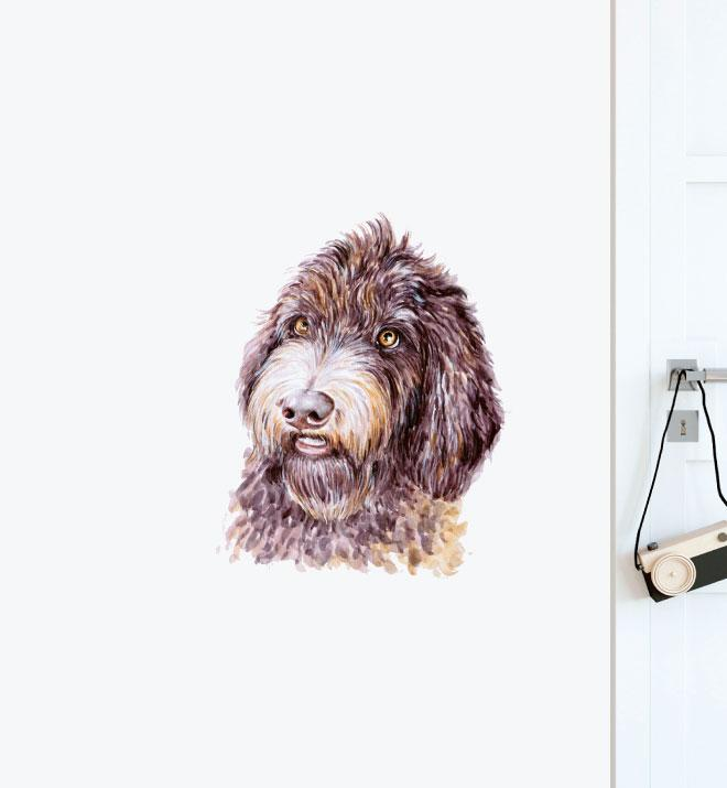 Labradoodle Dog Wall Sticker