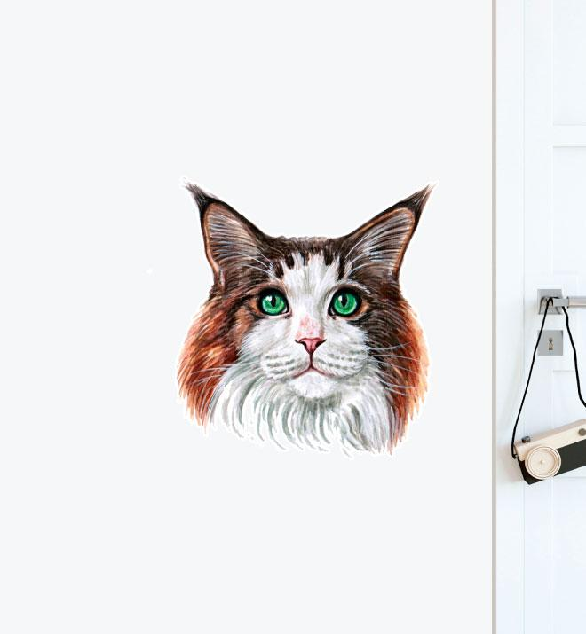 Maine Coon Cat Wall Sticker