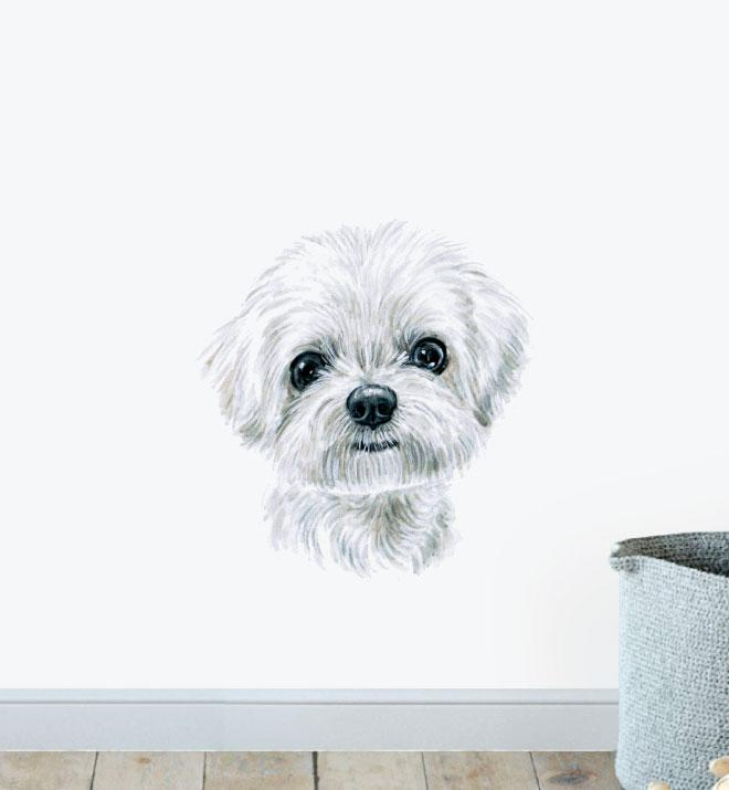 Maltese Dog Wall Sticker