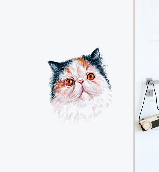 Persian Cat Wall Sticker
