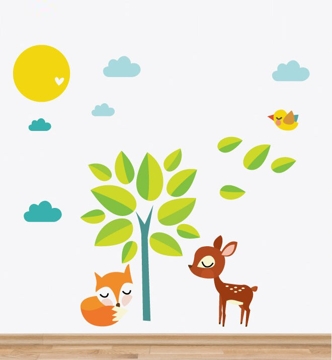Tree & Animals Wall Sticker