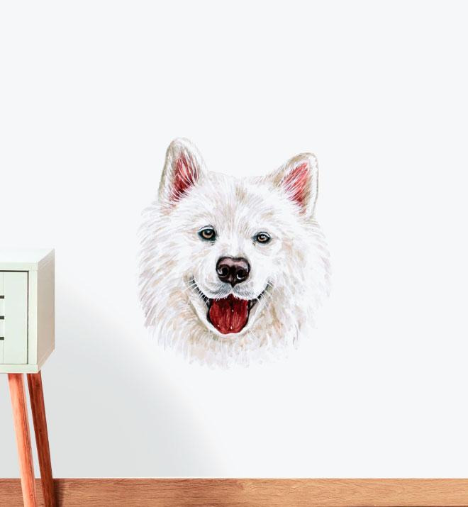 Samoyed Dog Wall Sticker