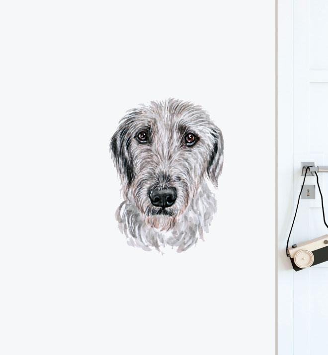 Scottish Deerhound Dog Wall Sticker
