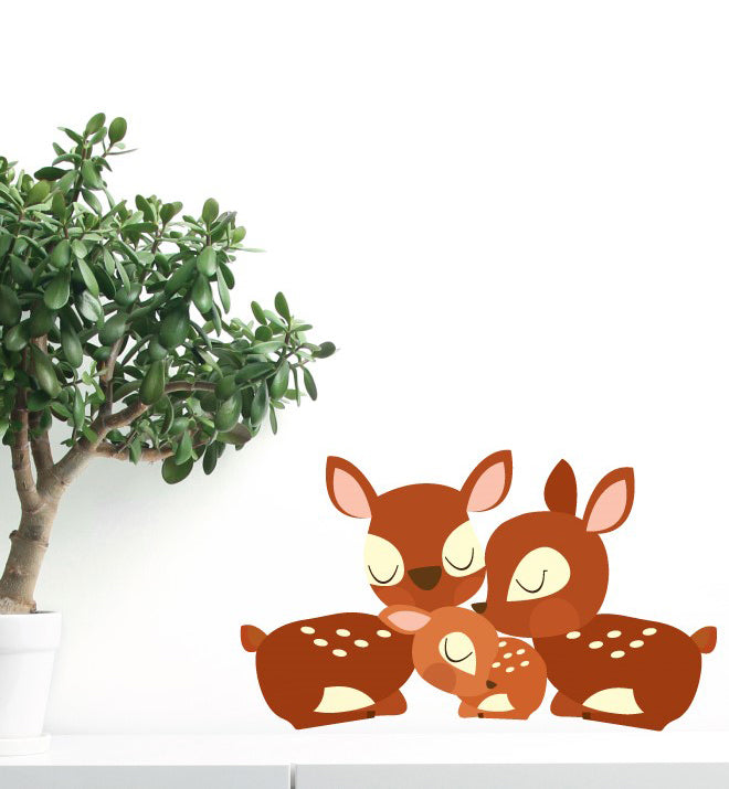 Deer Family Wall Sticker