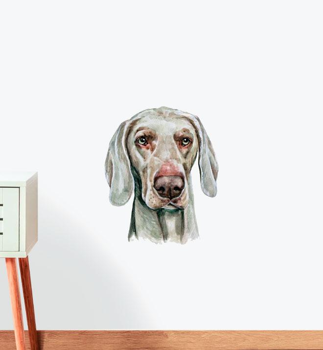 Weimaraner Dog Wall Sticker