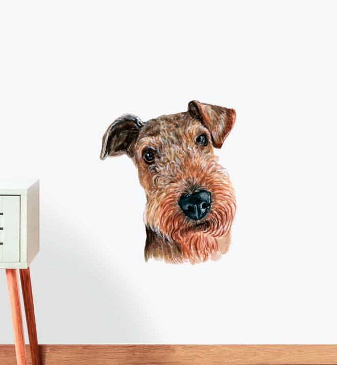 Welsh Terrier Dog Wall Sticker