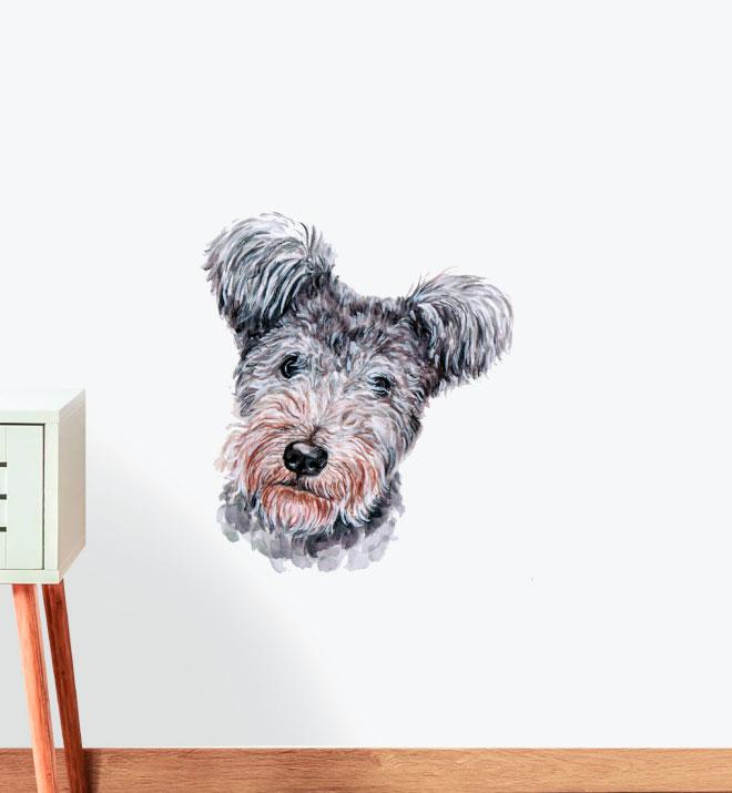 Yorkshire Terrier Dog Wall Sticker