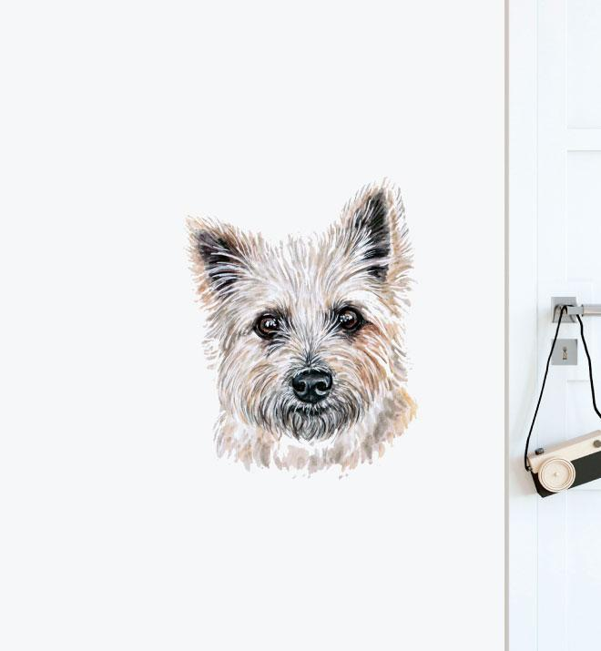 Yorkshire Terrier Puppy Dog Wall Sticker