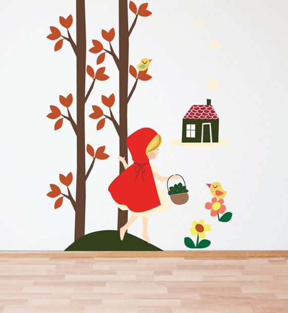 Riding Hood in the Forest Wall Sticker