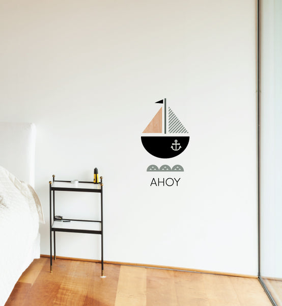 AHOY! Ship Wall Sticker