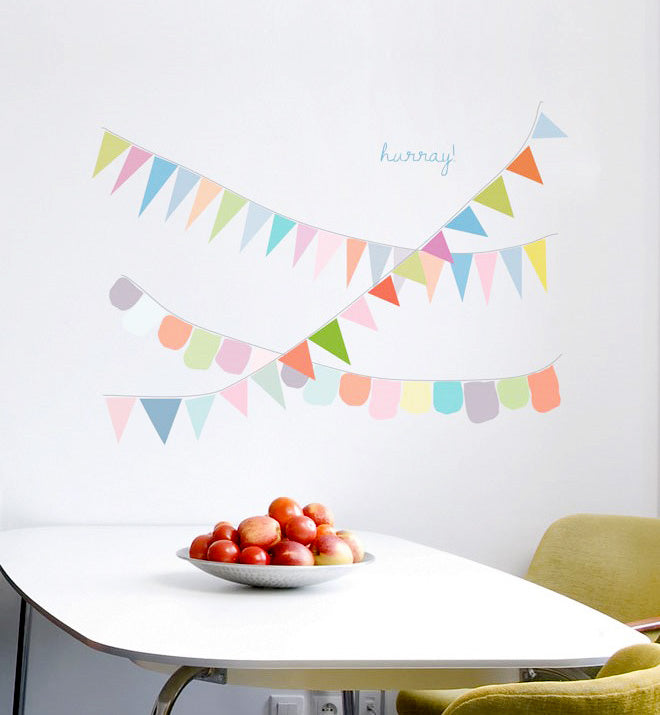 Hurray for Bunting Wall Sticker