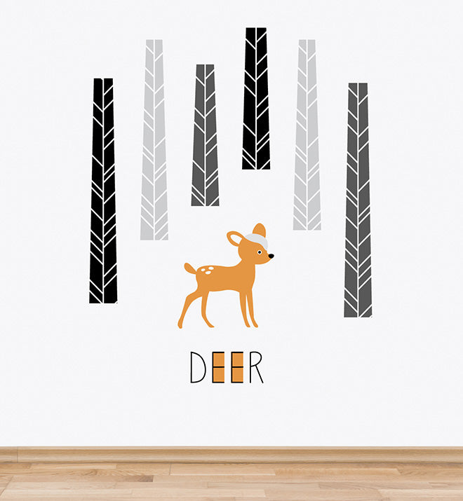 Woodland Deer Wall Sticker