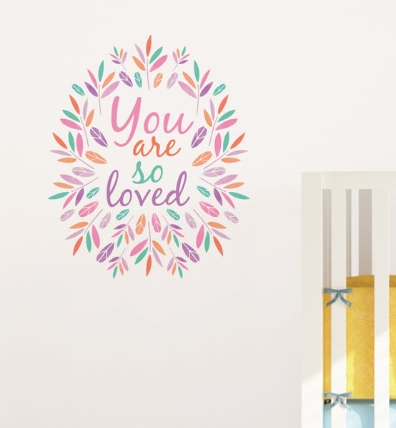 You are so Loved Wreath Wall Sticker