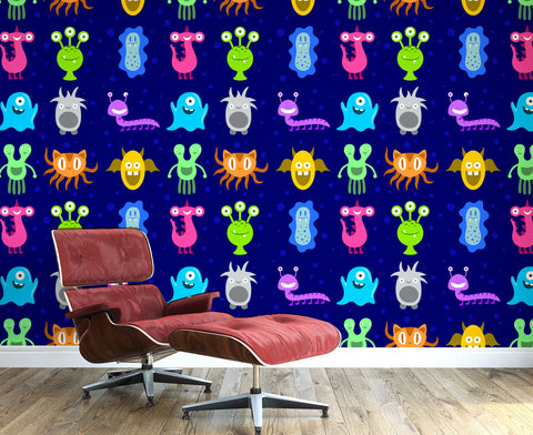 Colourful Monsters Wall Mural