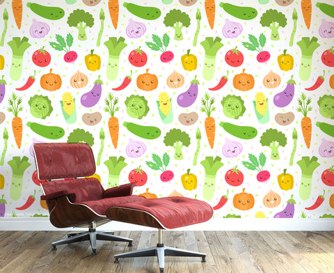 Happy Vegies Wall Mural