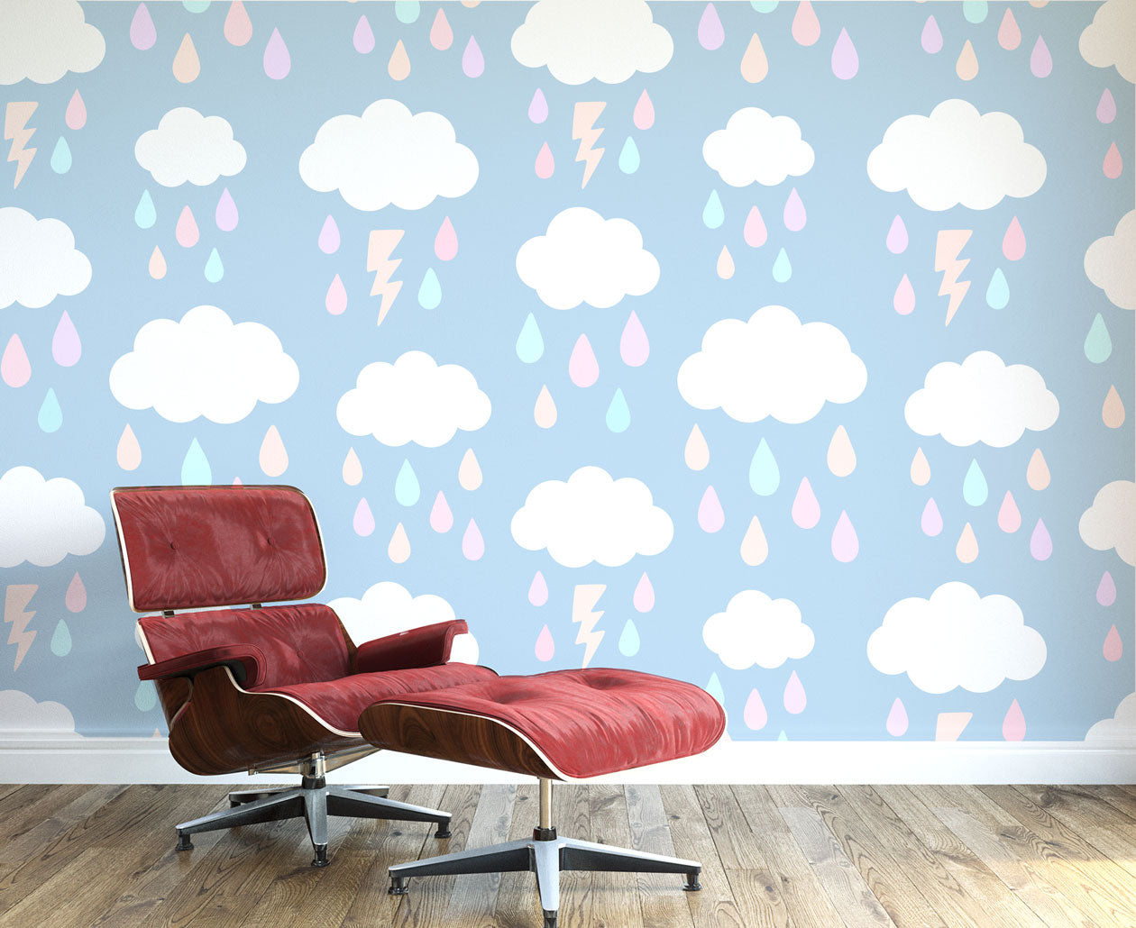 Rain And Clouds Wall Mural