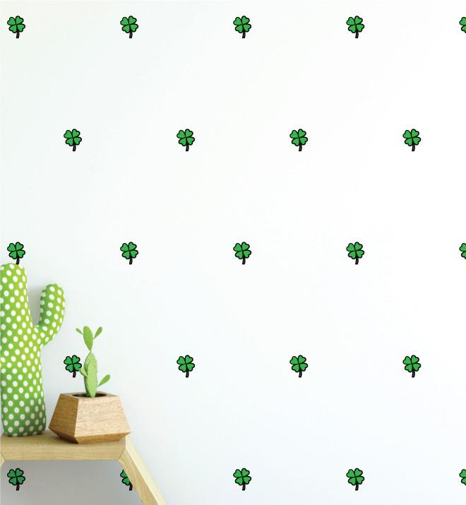 Clover Pattern (Collection of 28) Wall Sticker