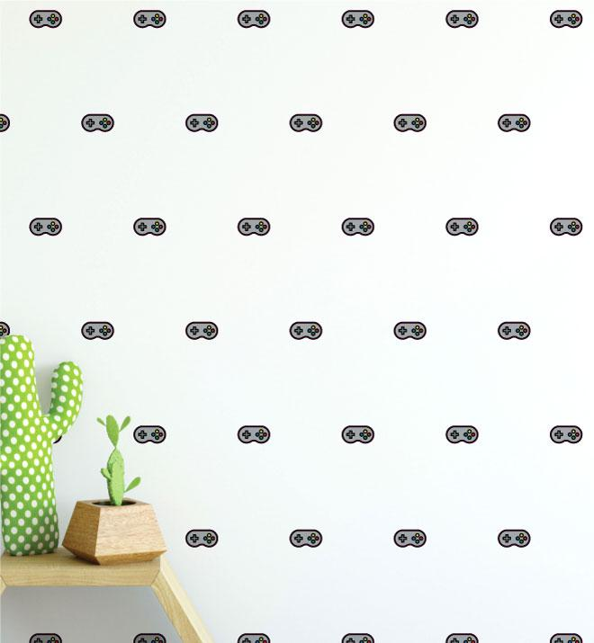 Controller Pattern (Colleciton of 20) Wall Sticker