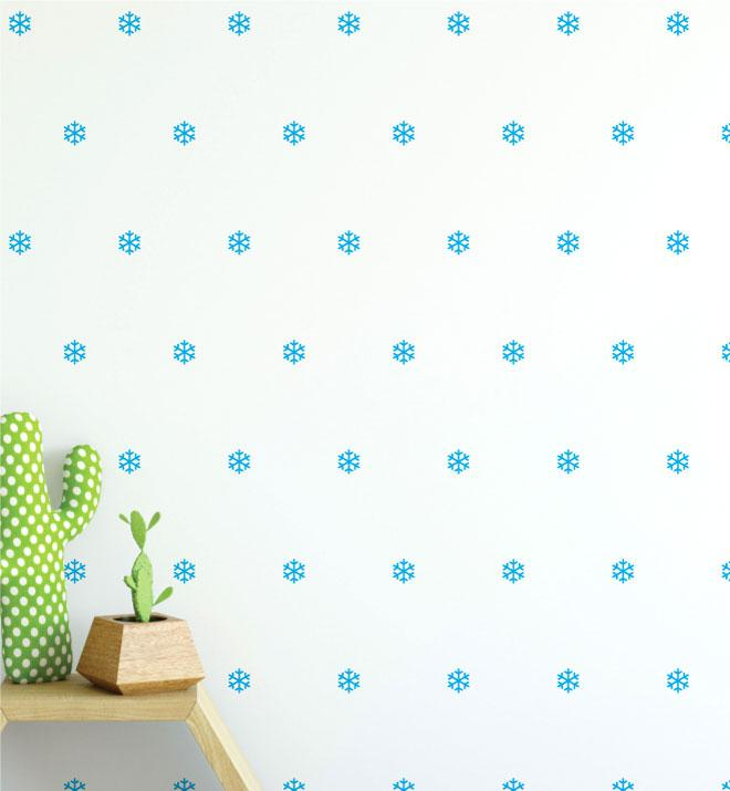 Snowflake Pattern (Collection of 35) Wall Sticker