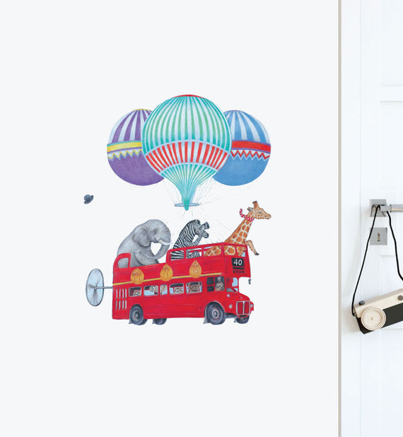 Animal Sight Seeing Wall Sticker