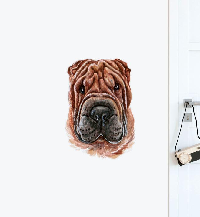 Shar Pei Wall Sticker