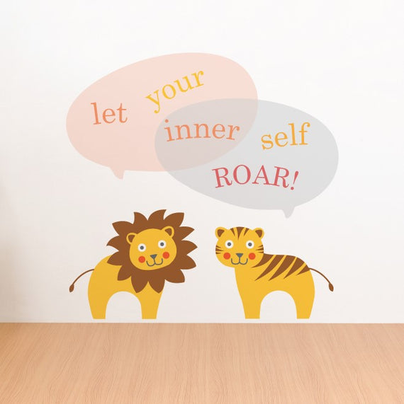Zoo Animal Lion & Tiger Wall Sticker