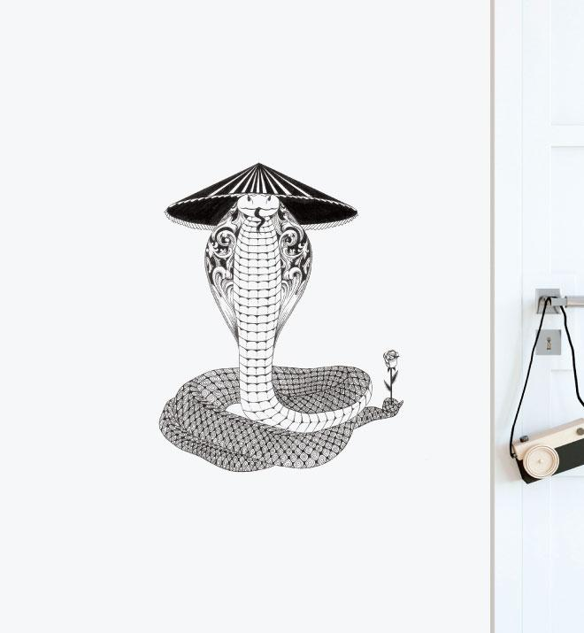 Mysterious Snake Wall Sticker