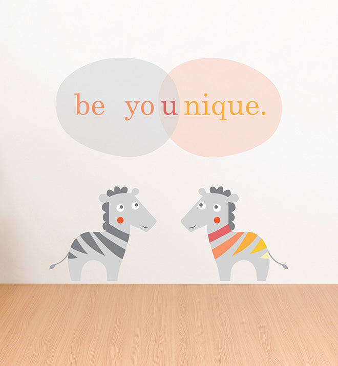 Zoo Animal Zebras Wall Sticker