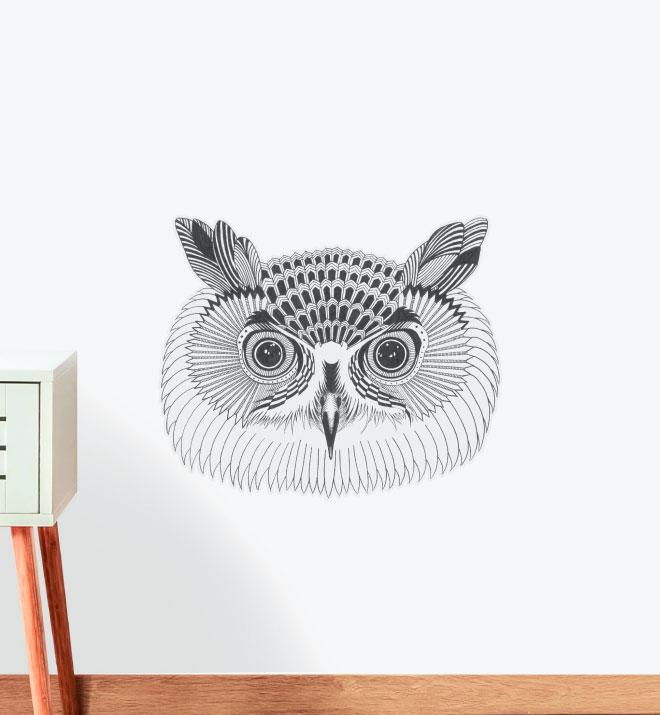 The Wise Owl Wall Sticker
