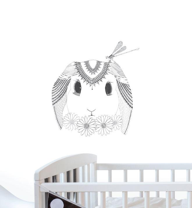 Peaceful Bunny Wall Sticker