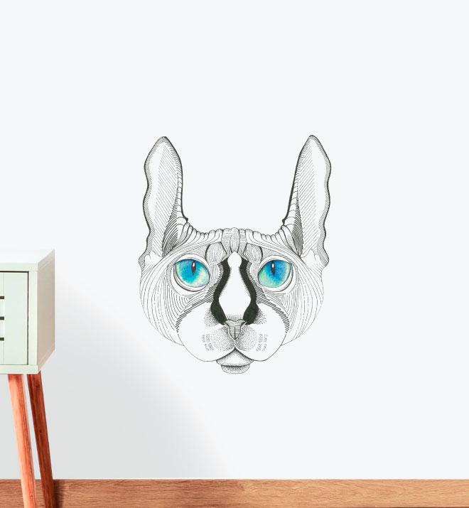 Sphynx with Stunning Eyes Wall Sticker