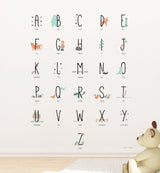 Woodland Animal Alphabet Wall Sticker