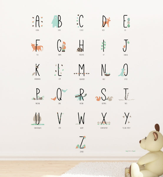 Woodland Animal Alphabets Wall Sticker Part 95