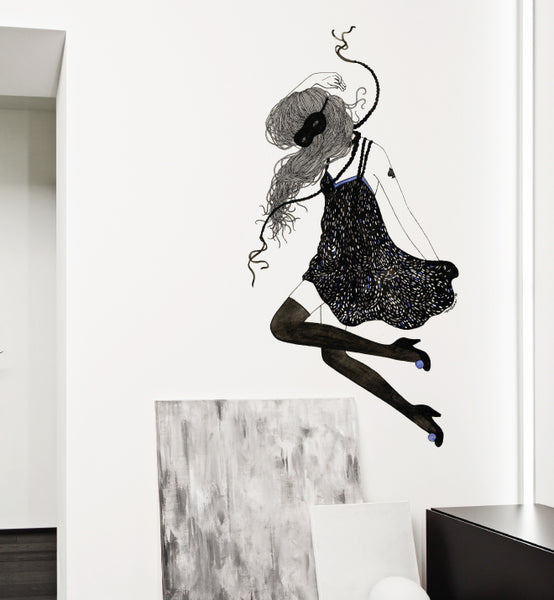 Masked Girl Wall Sticker