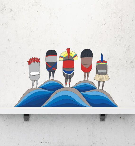 Amazon Indigenous I Wall Sticker