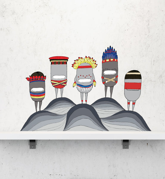 Amazon Indigenous II Wall Sticker