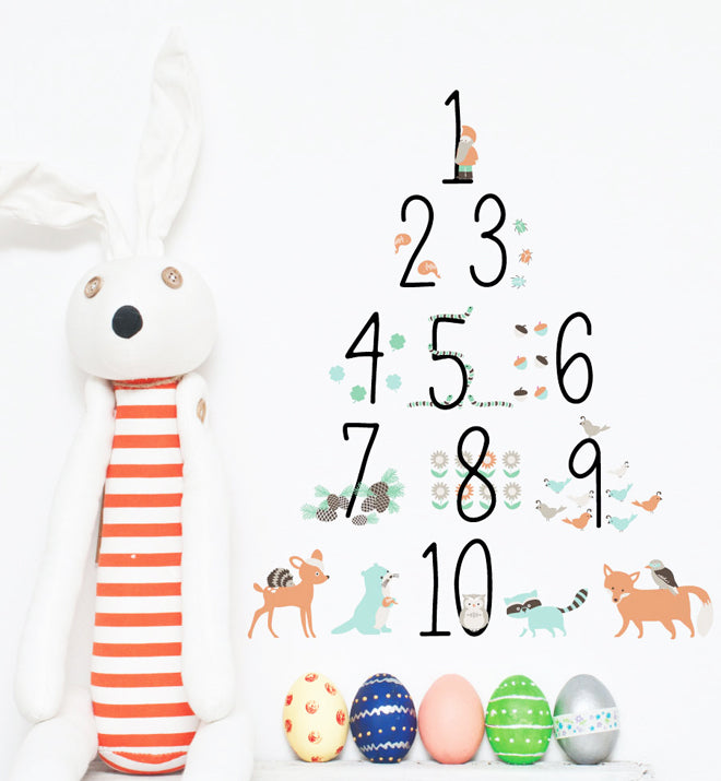 Woodland Woodland 123 Numbers Wall Sticker