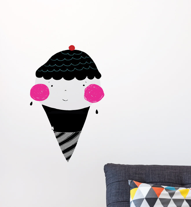 Monochromatic Ice Cream Wall Sticker