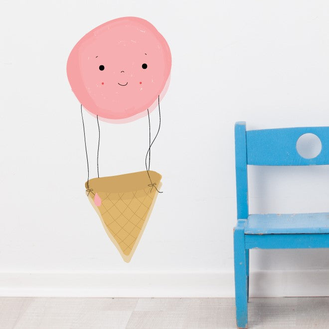 Ice Cream Balloon Wall Sticker
