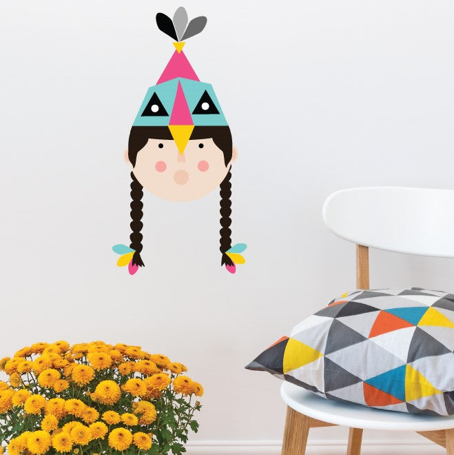 Tribe Girl Wall Sticker
