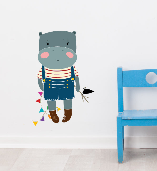 Baby Hippo Wall Sticker