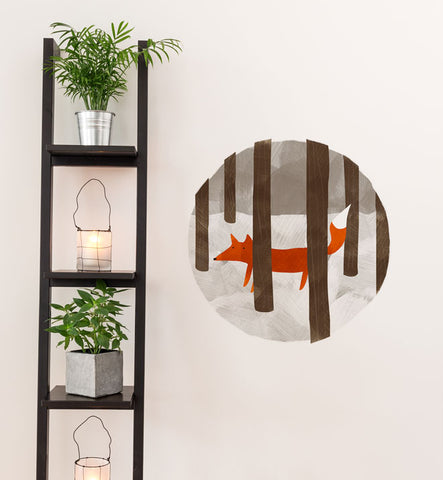 Hide and Seek Fox Wall Sticker