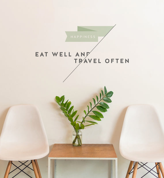 Eat Well and Travel Often Wall Sticker