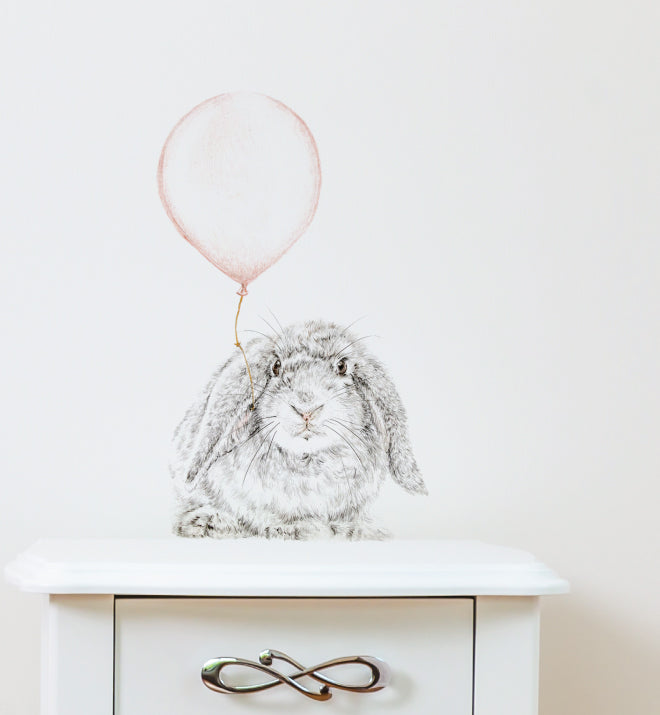 Bunny with Balloon Wall Sticker