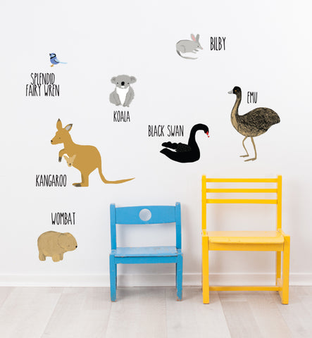 Australian Animals Wall Sticker