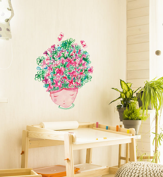 Floral Mind Wall Sticker