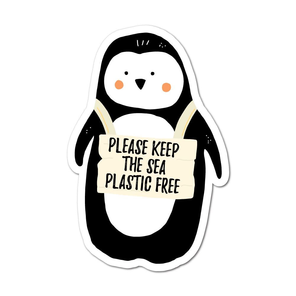 Please Keep The Sea Plastic Free Sticker Decal