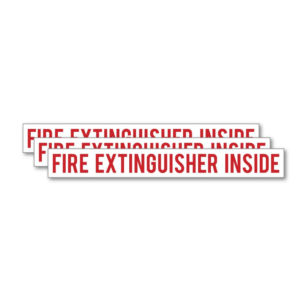 3X Fire Extinguisher Sticker Decal